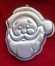 Wilton Santa Claus Cake Mold Pan 1987 Aluminum Tin Christmas Baking Holiday Head