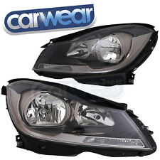 MERCEDES BENZ W204 C-Class 11-14 OEM STYLE BLACK HEAD LIGHTS C180 C200 C250 C300