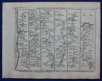 CORNWALL, ST AUSTELL, LANDS END, Plate 28, antique road map, Jefferys, 1775
