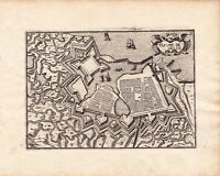 Gravure XVIIe Le Havre Seine Maritime Le Havre de Grace Christophe Tassin 1634