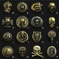 Skull Concho Crossbones Rose Floral Crown Roman Numeral Punk Brass Paktong