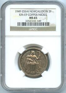 New Caledonia 2 Francs ESSAI 1949 KM E9 NGC MS 65