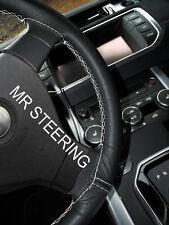 Se adapta a Mercedes CLS W219 04+ Cubierta del Volante Cuero Real Blanco doble puntada