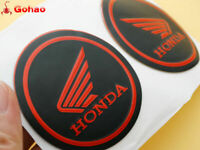 New Pair Gas Tank Fairing Round Sticker Decal Emblem for Honda Wing Red Black