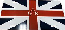 Union Jack GR LICENSE PLATE British Redcoat Revolutionary War Broad Arrow