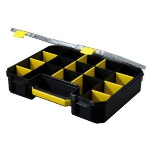 Stack-On Storage Organizer Yellow/Black Plastic