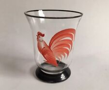 Hand-painted Rooster Juice Glass 3""