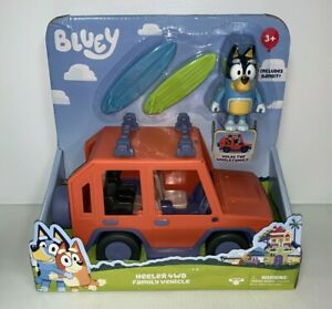 Bluey Toy Car Heeler 4WD Family Vehicle With Bandit Figure