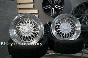 New 4x 20 inch 5x120 ET20 BBS RS Style Rim For BMW E34 E39 E60 Silver Polish