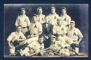 "USA MINNEAPOLIS H LARSON 1911 ""A"" BASEBALL TEAM REAL PH PPC"