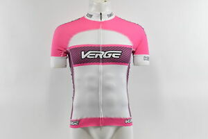 Verge Women's Primo Power Short Sleeve Cycling Jersey White/Pink 2XL Brand New