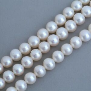 Cream / Ivory / White Near Round Genuine Freshwater Pearls Jewellery Making A