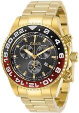 Invicta Reserve 44mm Grand Pro Diver Swiss ETA G15.211 Chrono Gold Tone SS Watch