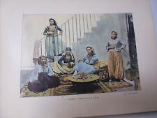 ALGERIE: Gravure 19° in folio couleur /FEMMES MAURESQUES D'ALGER