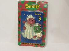 vtg 1993 plastic Barney Baby Bop light switchplate cover sleeping pjs mip