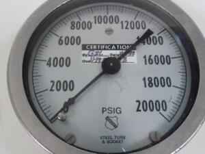 ASHCROFT STEEL TUBE & SOCKET 0-20000 PSI