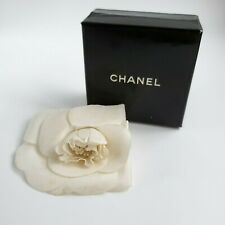 Signed Chanel Camellia Flower Pin Vintage Textile