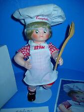 "Campbells Soup Kids Porcelain Doll ""The Dancing Chef"" Danbury Mint 1995 Coa Iob"