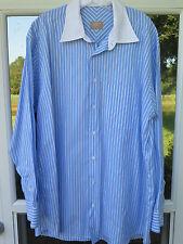 Gitman Bros Gold Label Imported Cotton Striped Dress Shirt 16 1/2 x 34 Large USA