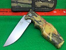 Vintage USA Gerber 600 Camouflage Magnum LST Lockback Knife and Belt Sheath