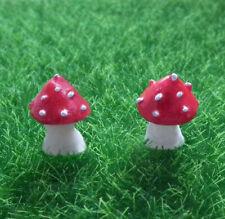 2 Miniature Toad Stool Mushrooms Fairy Door Garden Hobbit dolls house Garden LGW