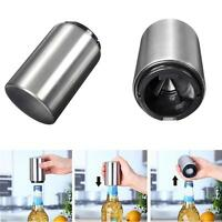 Stainless Steel Automatic Bar Wine Beer Soda Glass Cap Bottle Opener Open Tool -