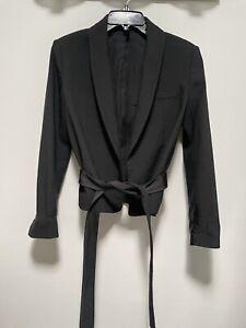 helmut lang black blazer jacket size 2
