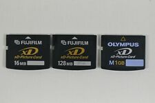 LOT of 3 XD Picture Cards Genuine OEM Finepix 16MB & 128MB + Olympus 1GB