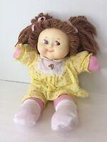 Vintage Vinyl Cloth Doll Red Eyes Yarn Hair Hong Kong Creepy Horror Scary 80s