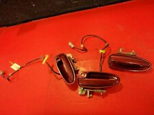 94-01 ACURA INTEGRA EXTERIOR FRONT REAR DOOR HANDLE HANDLES SET X 3 OEM RED