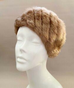 Vintage hat, faux fur hat,beret80s, fur beret, weddings,races,church,hat