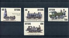 Guyana 1994 MNH Trains 4v Set Railways Locomotives Steam Engines Stamps