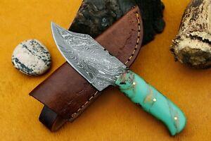 MH KNIVES CUSTOM HANDMADE DAMASCUS STEEL FULL TANG HUNTING/SKINNER KNIFE MH-302M