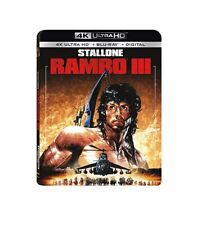 Rambo III 4K Ultra HD Blu-ray Digital Sylvester Stallone Richard Crenna NEW