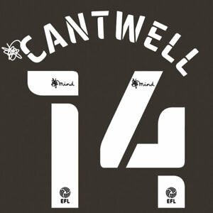 2020 2021 OFFICIAL NORWICH CITY 3RD NAME SET CANTWELL 14 = PLAYER SIZE