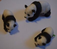 Schleich Sammelfigur Pandabärenfamilie Pandabärin 14706 + 2 Pandabärjungen 14707