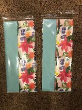 Trimblepress Spring Floral Tissue Wrapping Paper Set Of 2 New Sealed