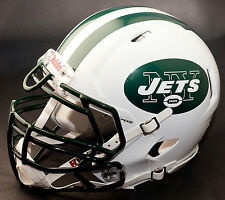 *CUSTOM* NEW YORK JETS NFL Riddell Full Size SPEED Football Helmet