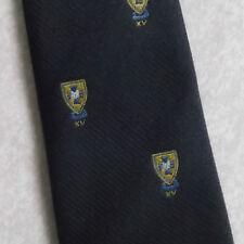 Vintage asociación de clubes deportivos tie Años 60 Años 70 Por tee-dee Rugby Crest Navy Xv