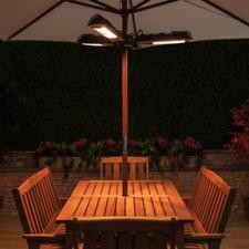 Parasol Electric Patio Heater Umbrella 1,500 Watts 15 Sq Ft Heat Indoor Outdoor
