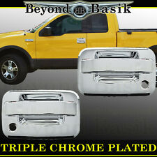 2004-2014 FORD F-150 F150 Chrome Door Handle Covers w/Passenger Key no Keypad
