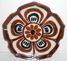 """Fine Mexican Pottery by Ken Edwards 8-1/4"""" Lotus Luncheon Plate - Mexico"""