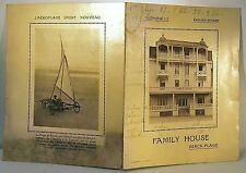 BERCK PLAGE FAMILY HOUSE HOTEL RARE CARTE PUBLICITAIRE débXXè AEROPLAGE ANCIEN
