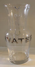 Large Clear Glass Pitcher Water Printed in Silver Gild Country French Vase New