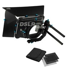"FOTGA DP3000 M3 Professional Matte Box Sunshade + 4""x4"" Full ND2 ND4 ND8 Filter"