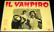 fotobusta film THE VAMPIRE - IL VAMPIRO John Beal Paul Landres 1958