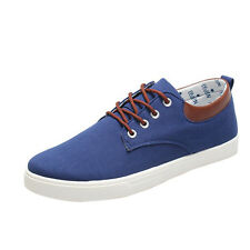 Espadrilles Mens Low-Top Canvas Shoes Outdoor Exercise Sneakers Casual Flat Loafers Lace-up Deck Shoes (Color : C Size : 40)