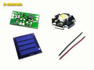 Solar Tuning Bausatz für 1,2V Akku Solar-Leuchten, LED WEISS 100mA Solarzelle