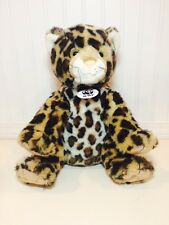 "Build a Bear BAB Leopard Cheetah Jaguar WWF World Wildlife Fund Plush 13"" EUC"