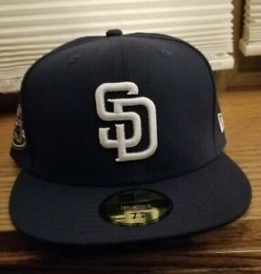 San Diego Padres hat New Era fitted hat 50th Anniversary patch 7 5/8 NWT